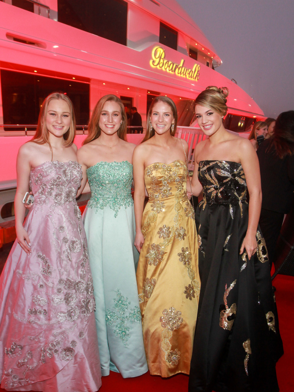 Duchesses Hannah Kirby, Heather Kirby, Devin Peterson and Amberlea Tribble