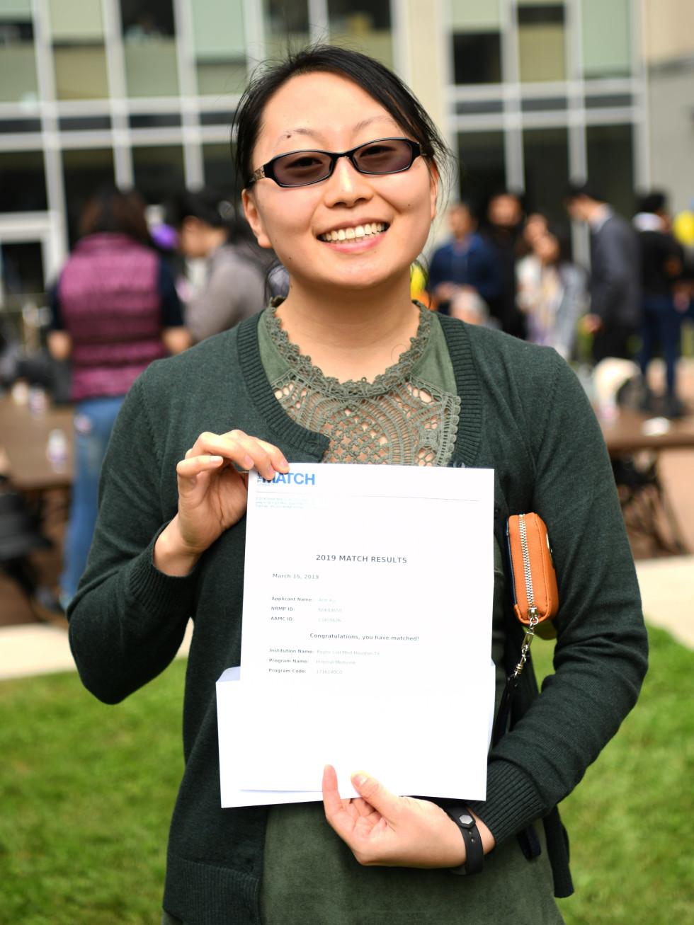 Match Day Baylor Ann Xu