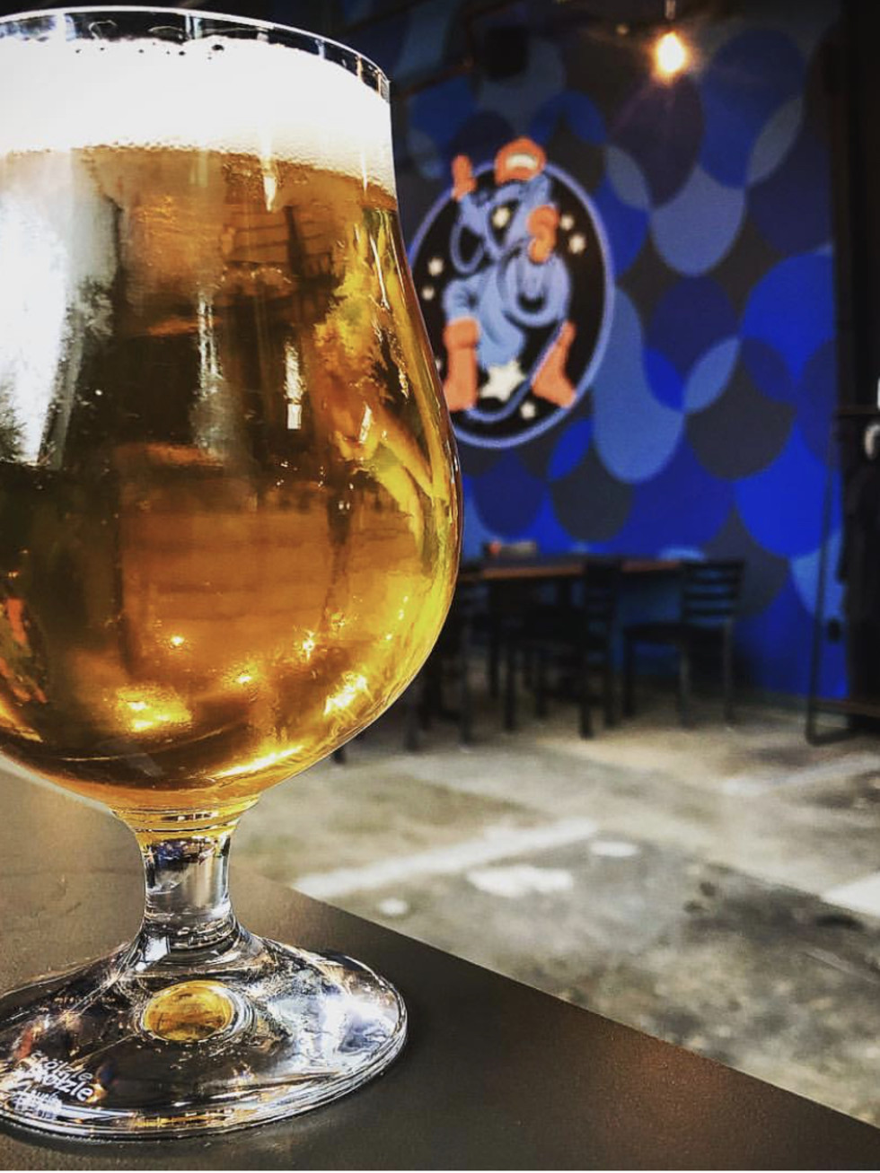 Astral Brewing beer in glass