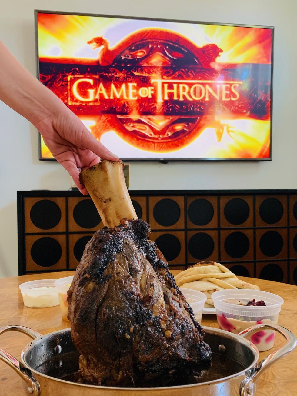 One Fifth Mediterranean Game of Thrones lamb shank