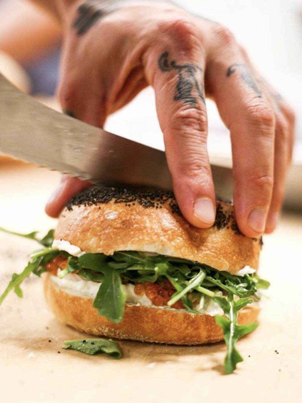 Swedish Hill sandwich bagel