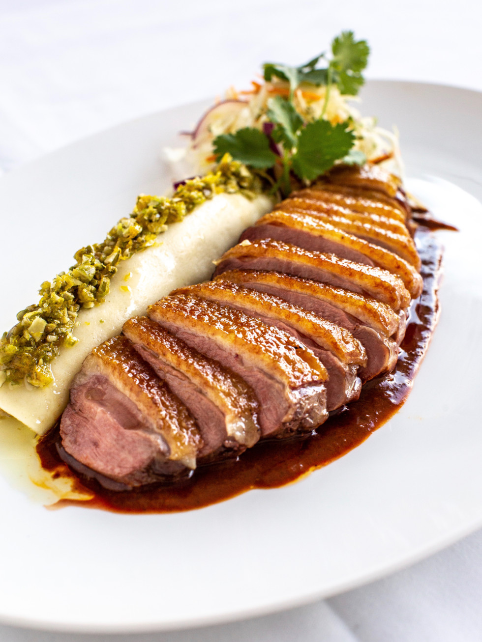 The Annie Cafe roasted duck breast with cocoa mole