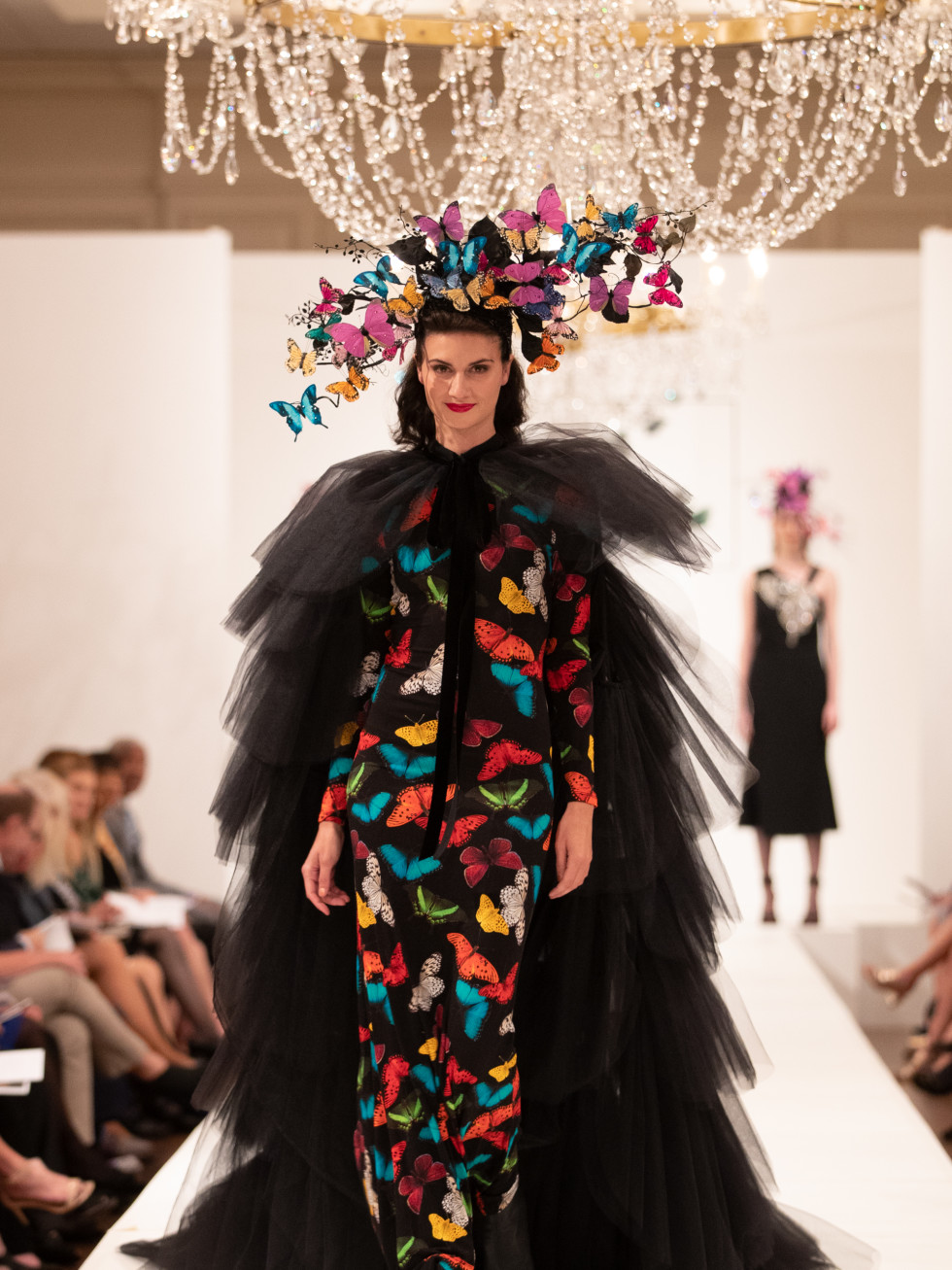 ALICE + OLIVIA Multi Butterfly Maxi Dress
