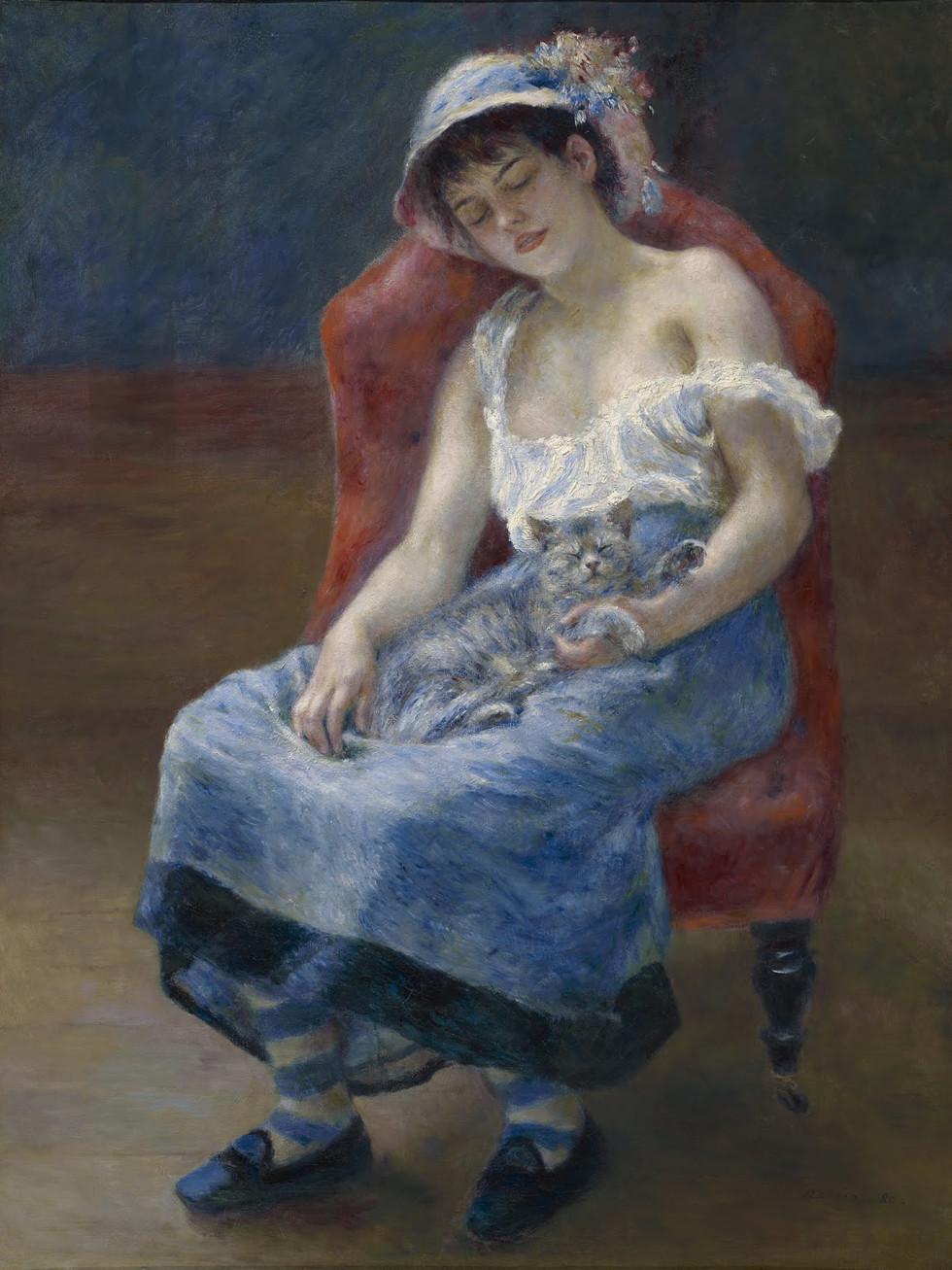Renoir, sleeping girl