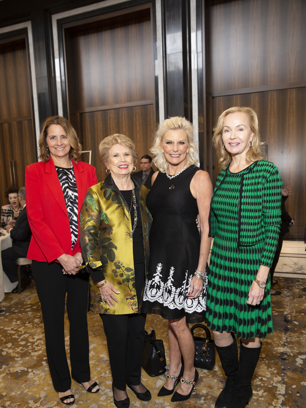 Barbara Bush Power of Literacy Luncheon Julie Andrews 2019 Laurel D'Antoni, Ginger Blanton, Kristen Oesch Stubbs, and Alice Mosing