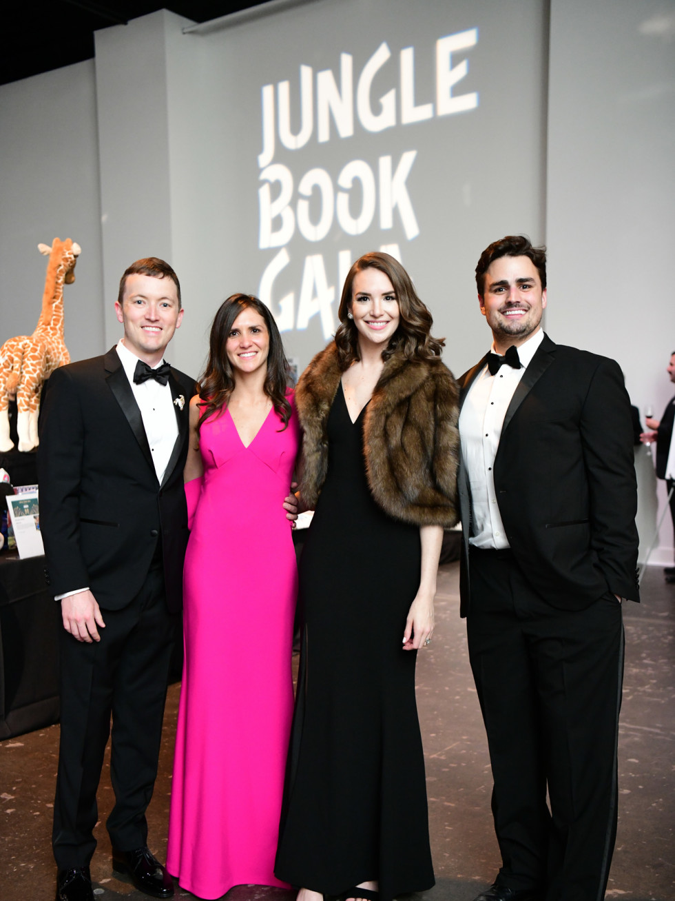 Jungle Book Gala 2019 Nick Carnrite and Kasey McNorton with Lauren and Lawson Gow
