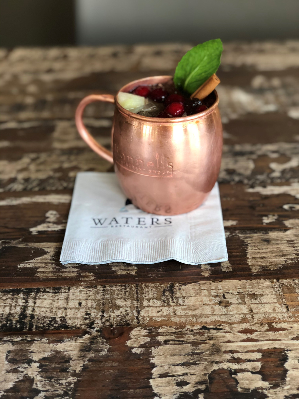 Waters cranberry apple mule
