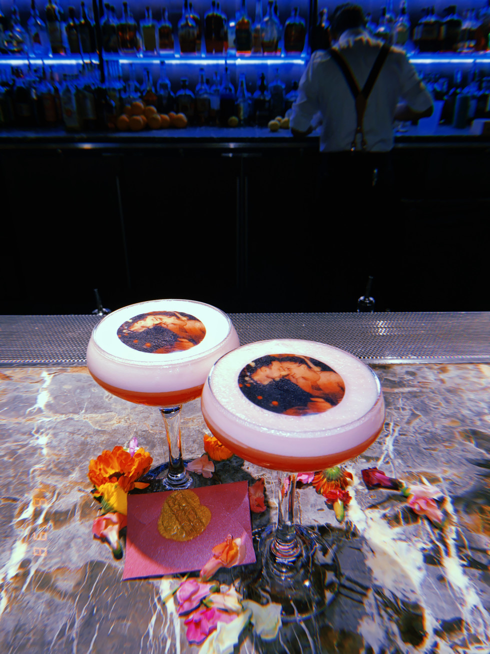 Bourbon & Banter Valentine's Day cocktail