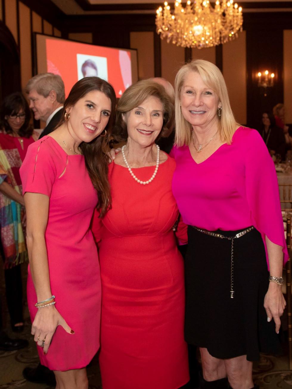 Christina Dabney, Laura Bush and Shelby Dabney
