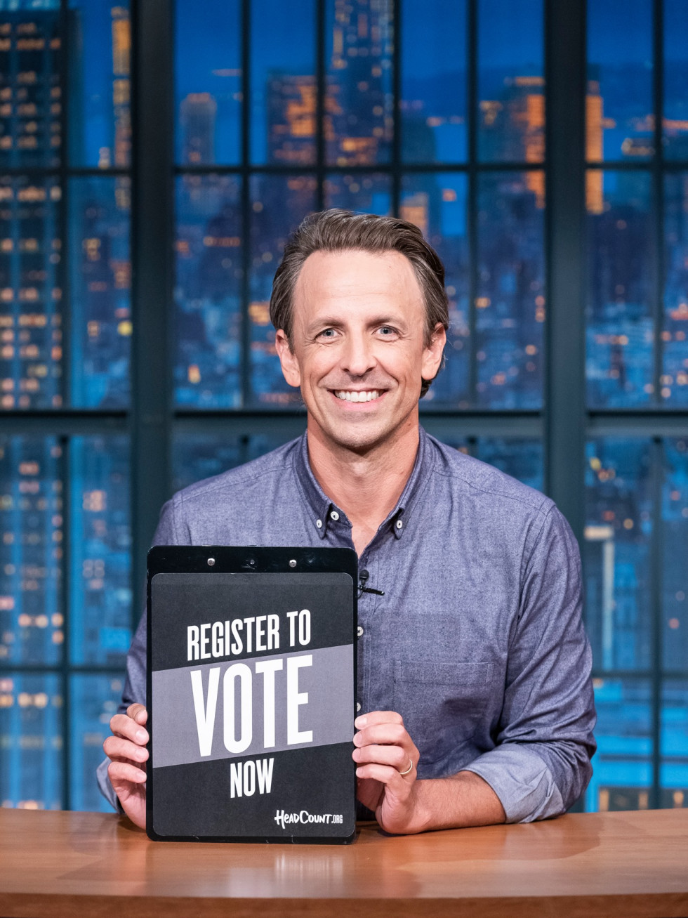 Seth Meyers FB desk vote
