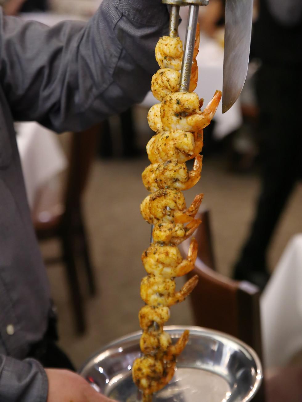 Casa Do Brasil shrimp skewer