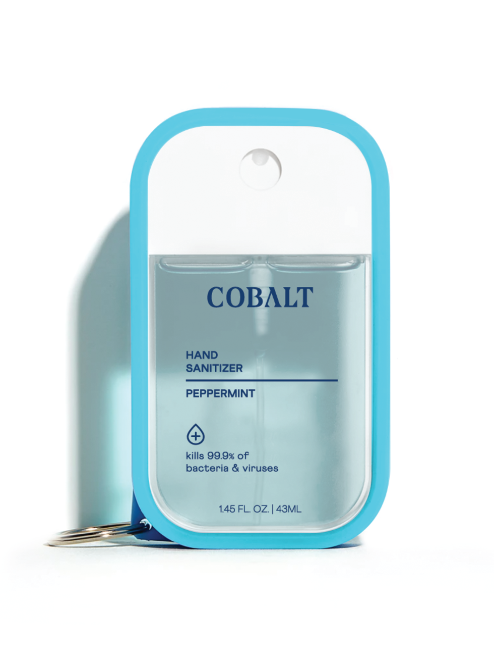 Cobalt hand sanitizer Peppermint clip-on