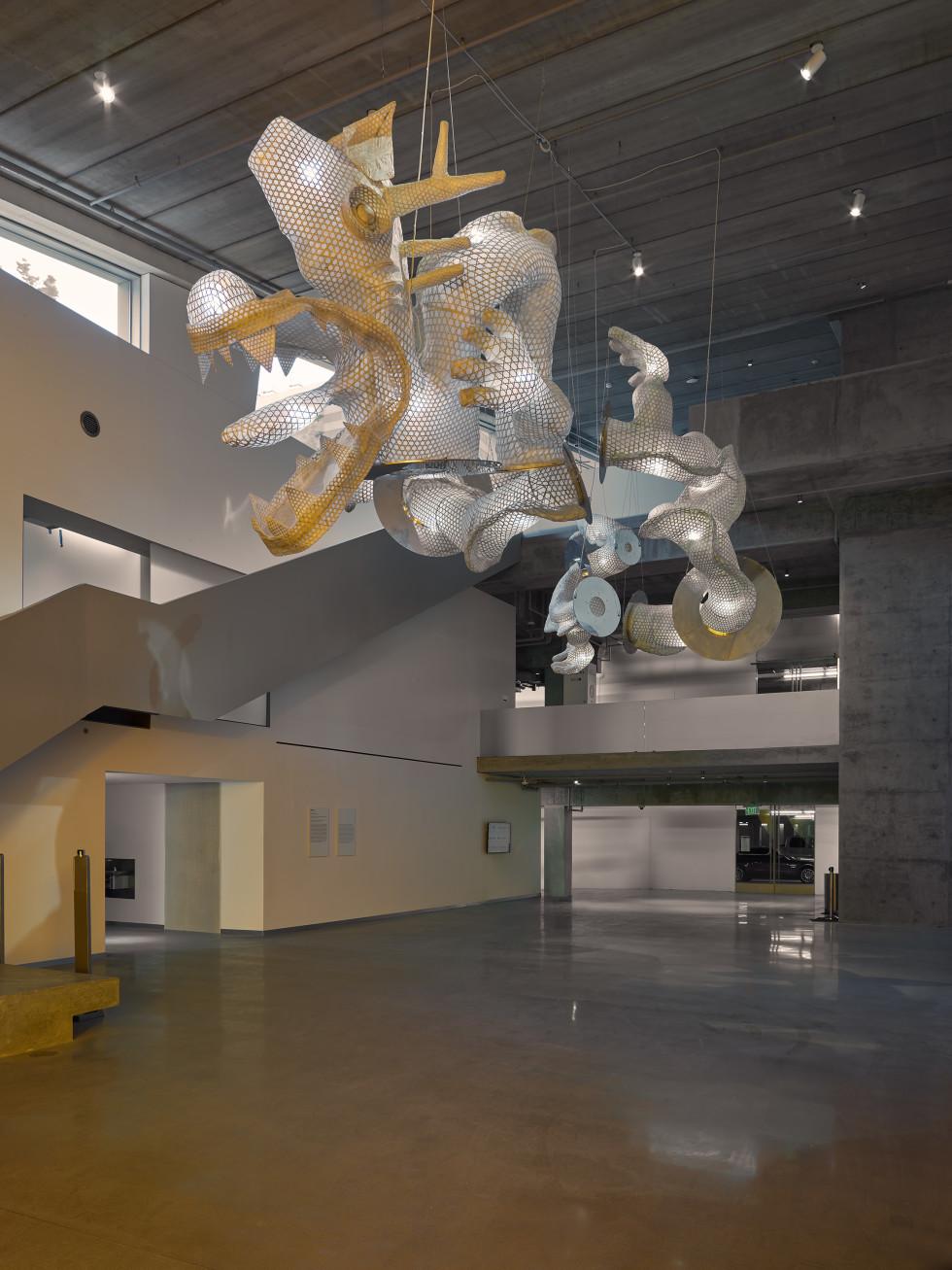 MFAH Nancy and Rich Kinder Building Ai Weiwei's Dragon Reflection
