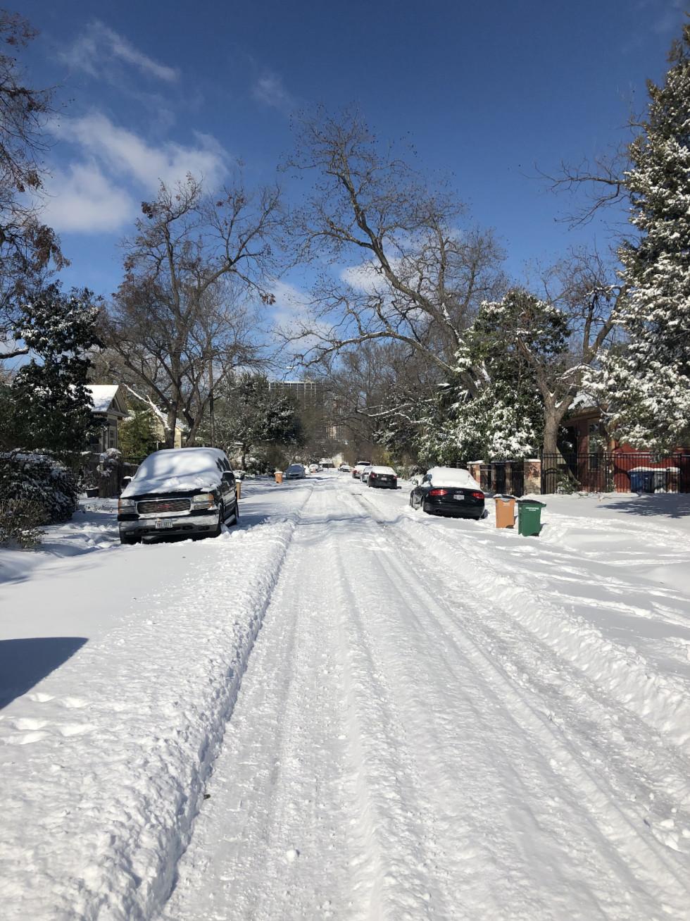 snow Austin 2021 street