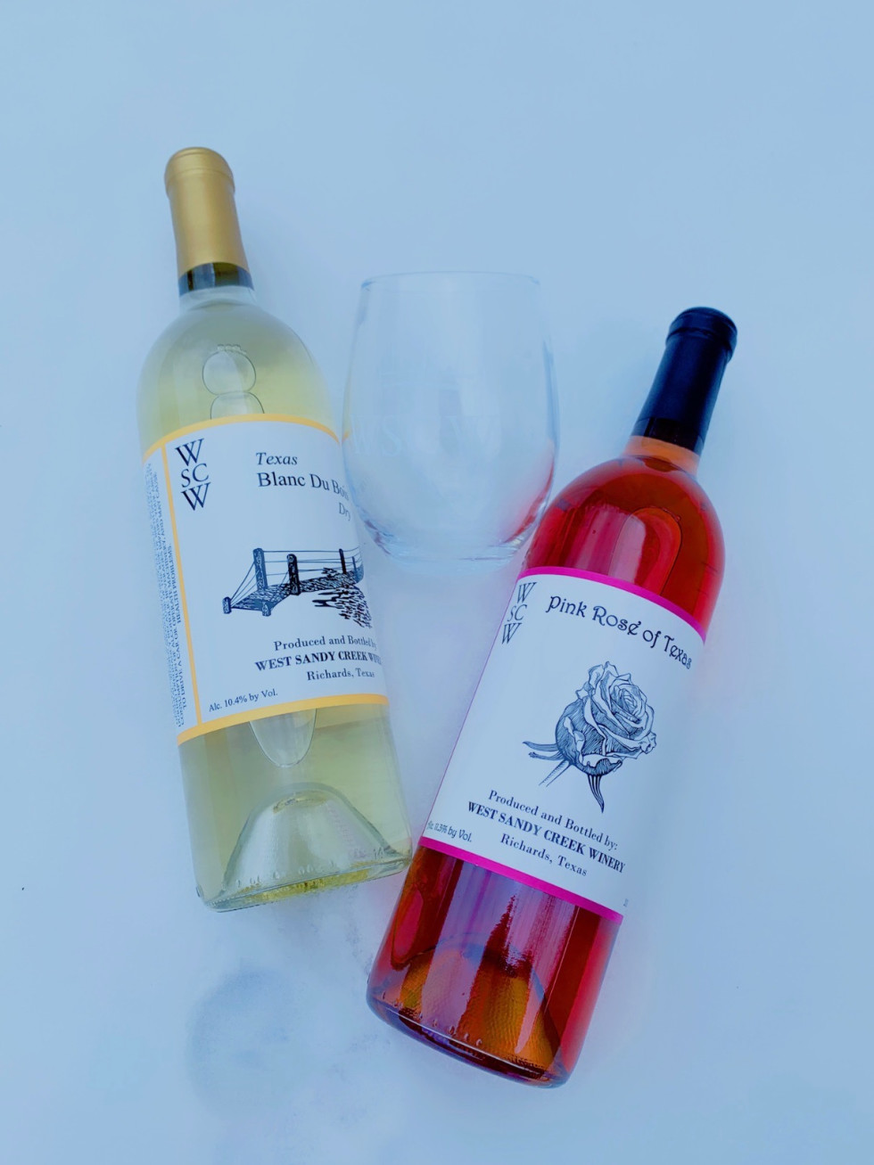snow houston wine bottles