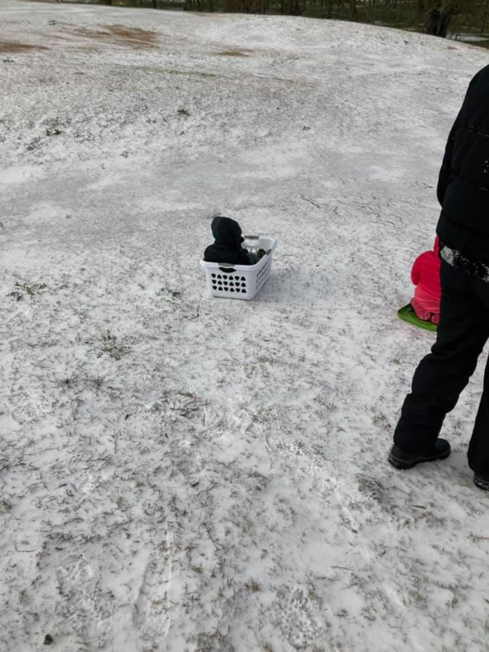 houston snow 2021 sledding