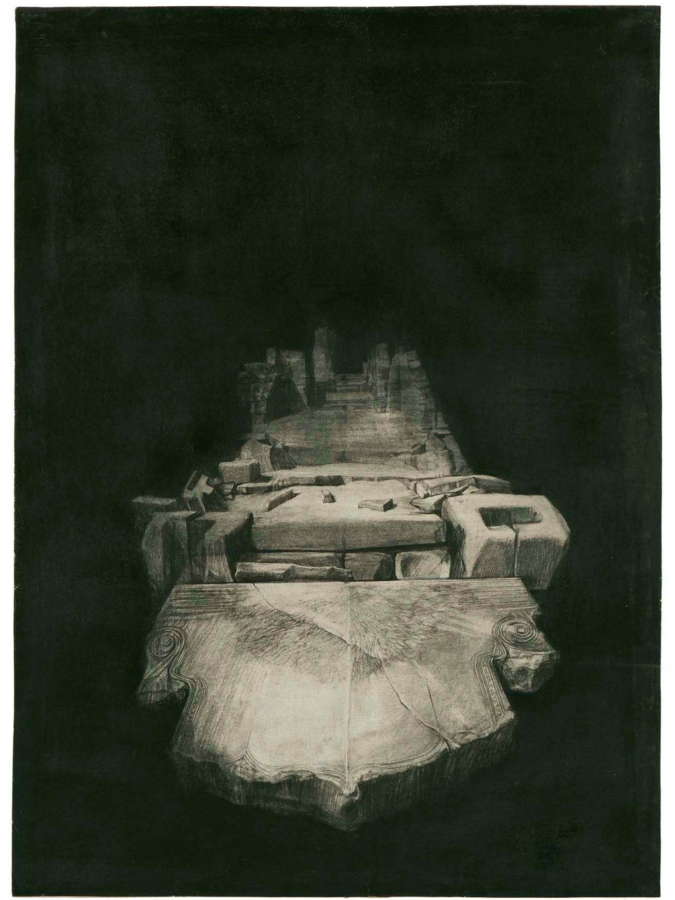 """The Menil Collection presents """"Dream Monuments: Drawing in the 1960s and 1970s"""""""