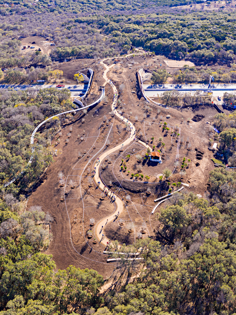 Land bridge construction San Antonio