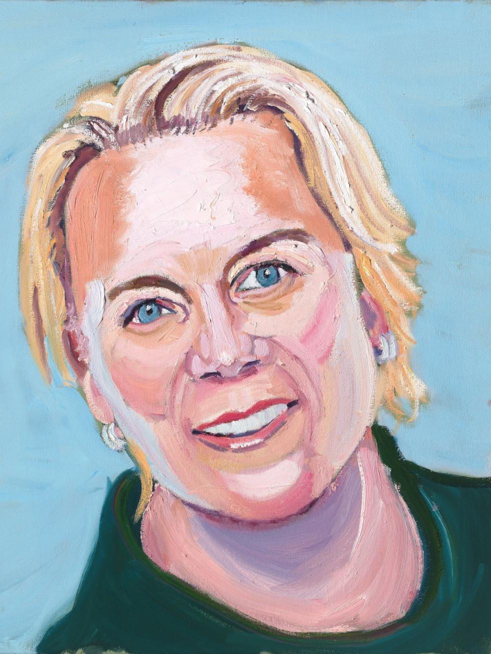 Annika Sorenstam portrait by George W. Bush