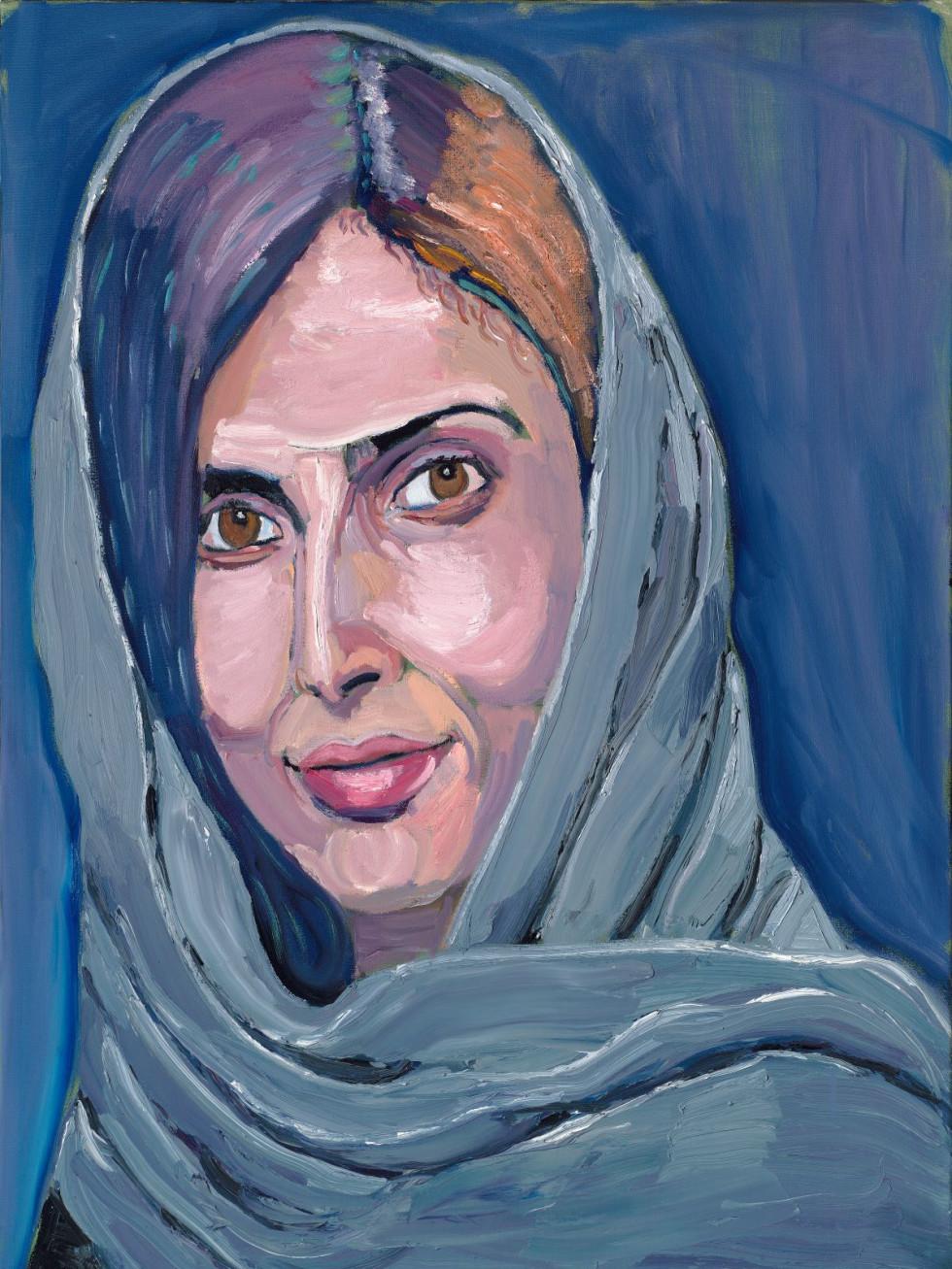 Royam Mahboob portrait by George W. Bush