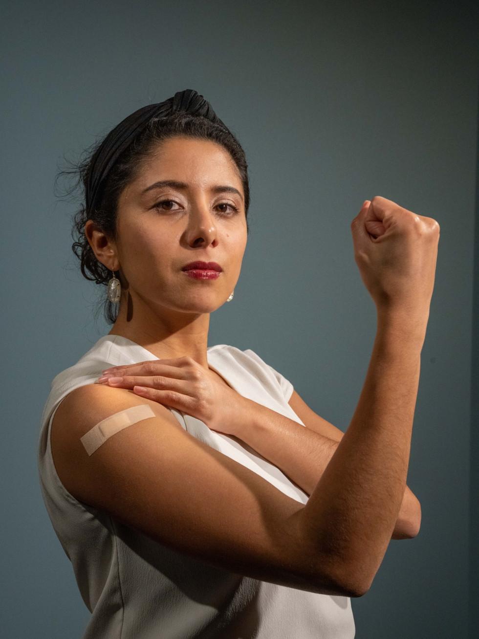 Lina Hidalgo vaccination