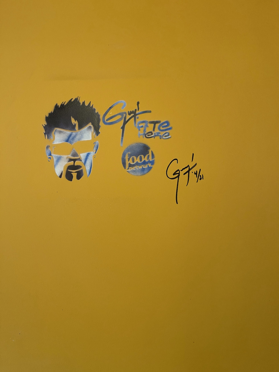 Guy Fieri autograph Toasted Coconut