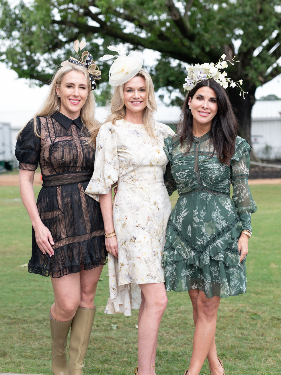Bo's Place Kentucky Derby 2021 Houston Polo Club Christie Sullivan, Millette Sherman and Alissa Maples