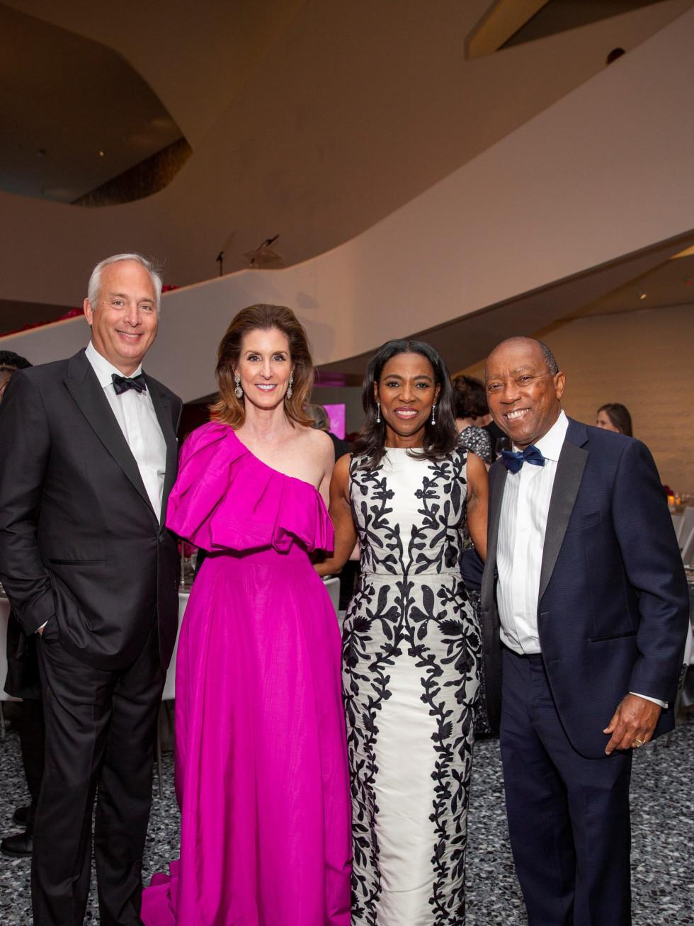 MFAH Grand Gala Ball 2021 Bobby and Phoebe Tudor; Mayor Sylvester Turner; Dr. Cathy Flanigan