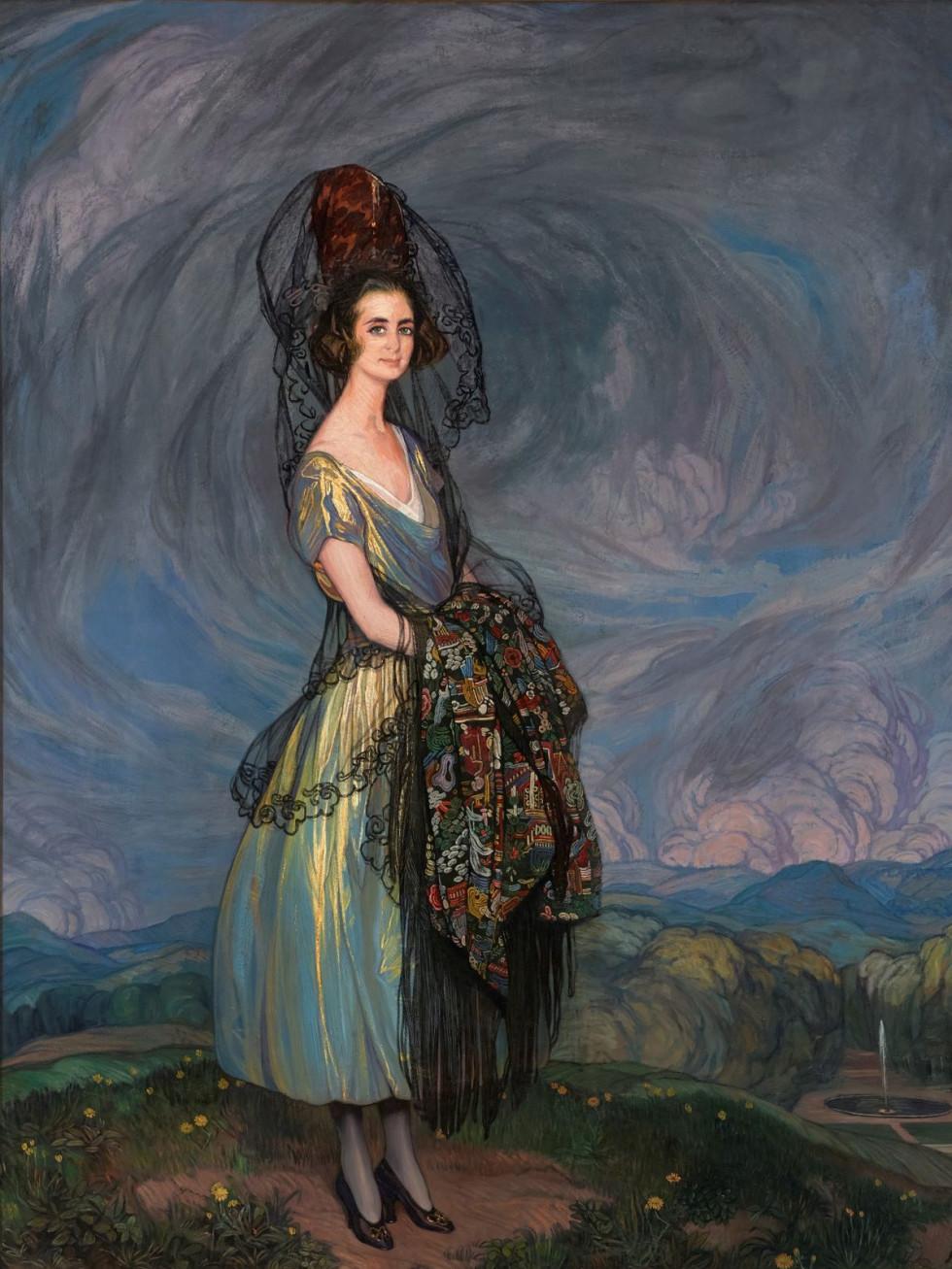 "Ignacio Zuloaga y Zabaleta, Portrait of the Duchess of Arión, Marchioness of Bay, ""Canvas & Silk"""