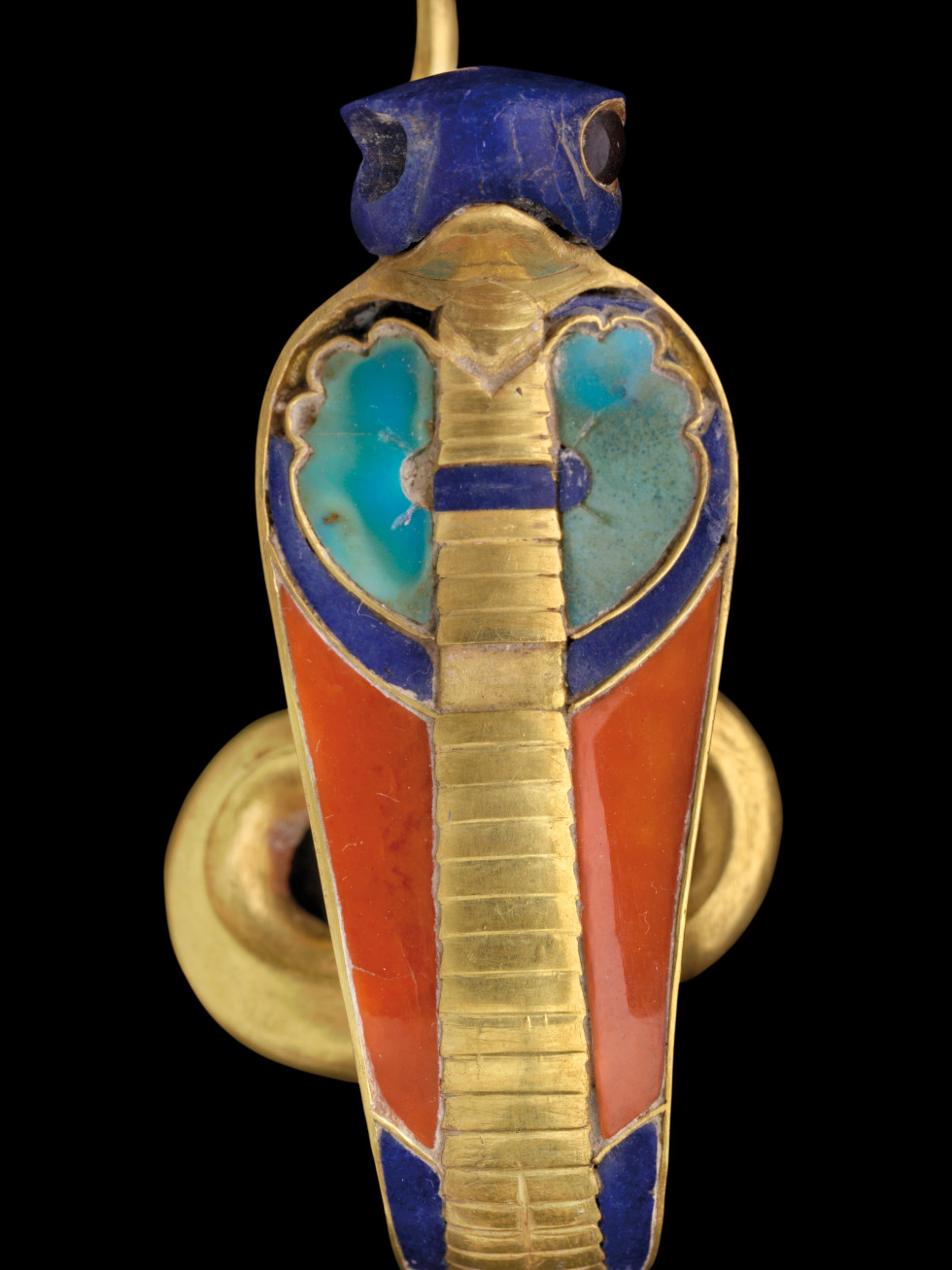 Ramses the Great and the Gold of the Pharaohs Houston Museum of Natural Science Gold Uraeus Inlaid with Semi-precious Stones from a Royal Crown of Senwosret II