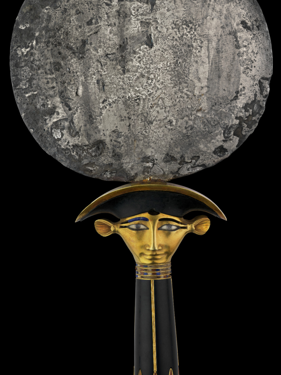 Ramses the Great and the Gold of the Pharaohs Houston Museum of Natural Science Silver Mirror with Hathor Head Handle