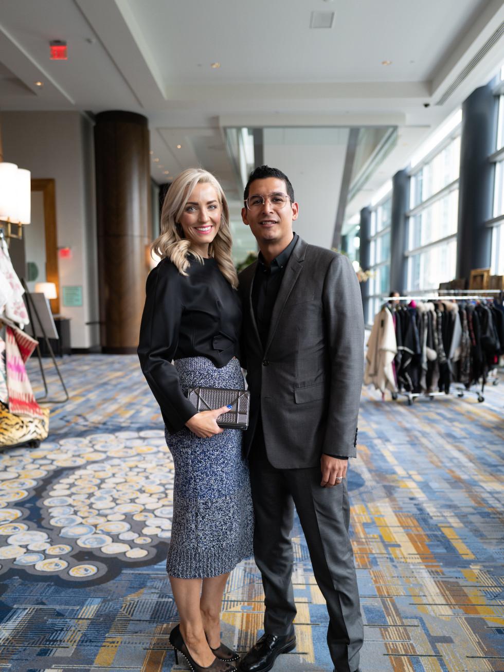 LWI Houston 2021 fashion show luncheon Abby Chris Vanegas