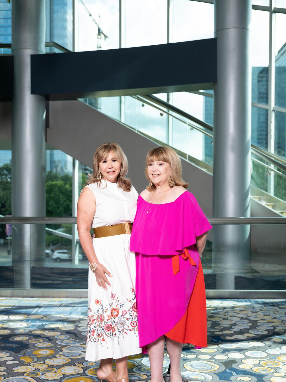 LWI Houston 2021 fashion show luncheon Cyndy Garza Roberts and Marilu Garza