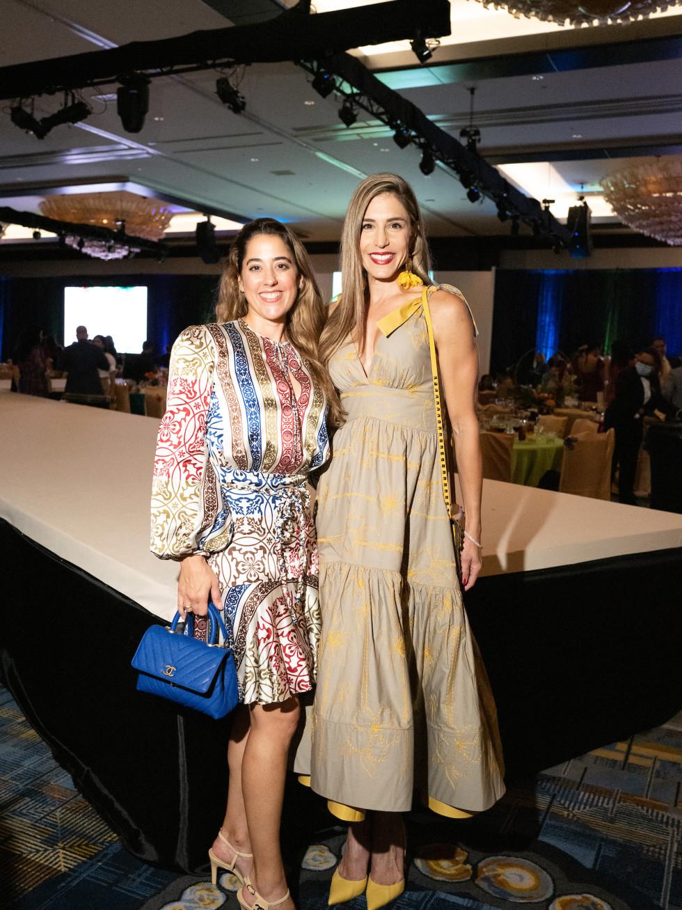 LWI Houston 2021 fashion show luncheon Kristina Somerville and Erika Toussaint