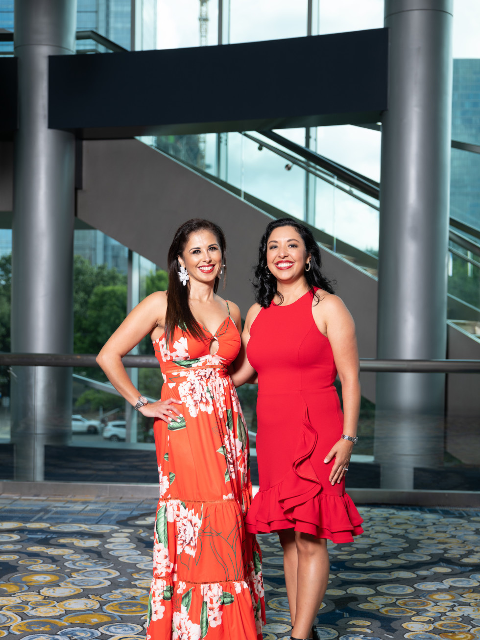 LWI Houston 2021 fashion show luncheon Laura Salinas-Pruneda and Monica Casiano