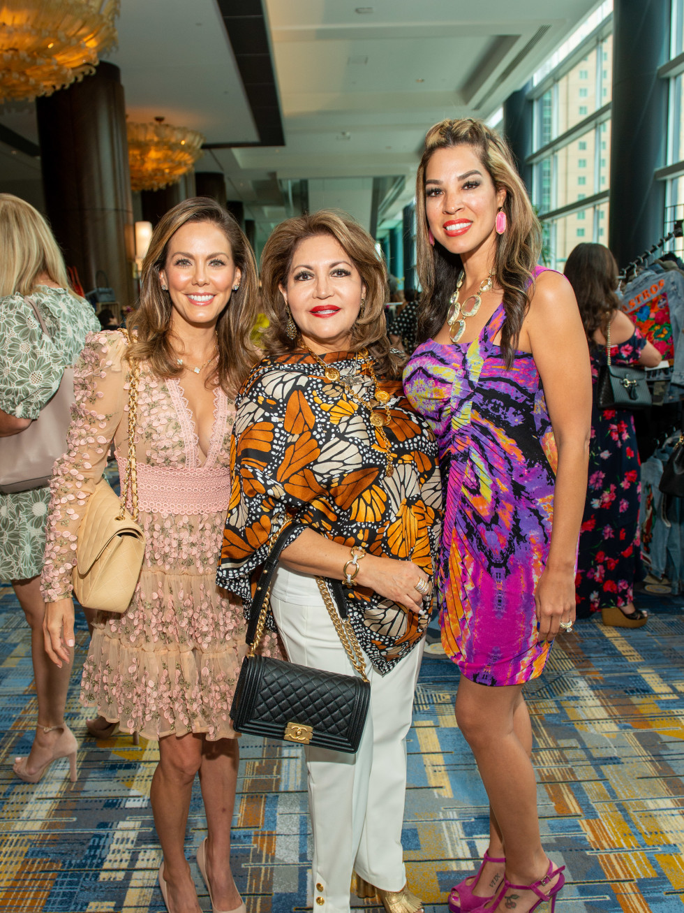 LWI Houston 2021 fashion show luncheon Ofelia Vujasonvic, Alma Gonzales, Erica Mire