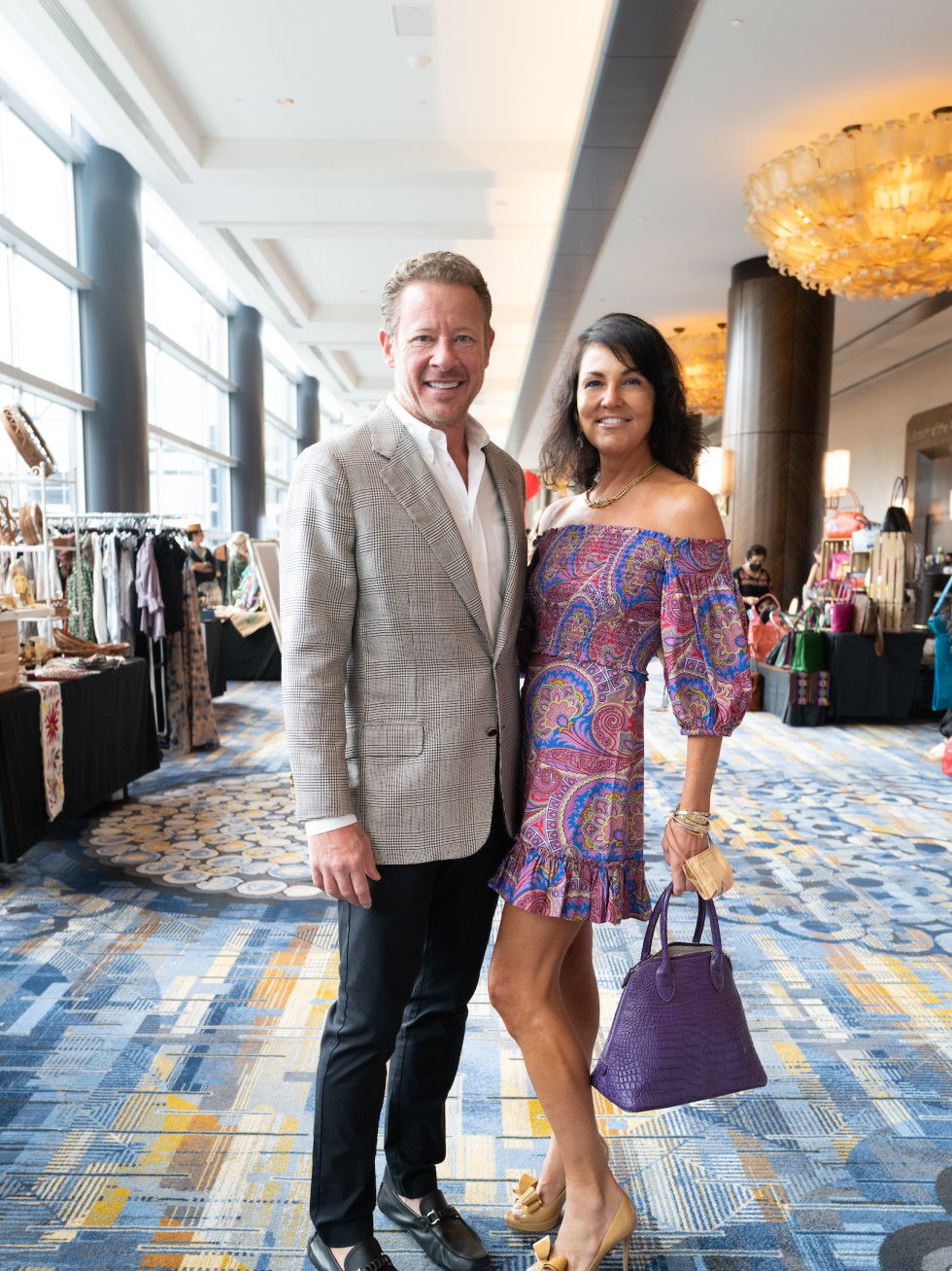 LWI Houston 2021 fashion show luncheon Todd Phillips Jessica Rossman