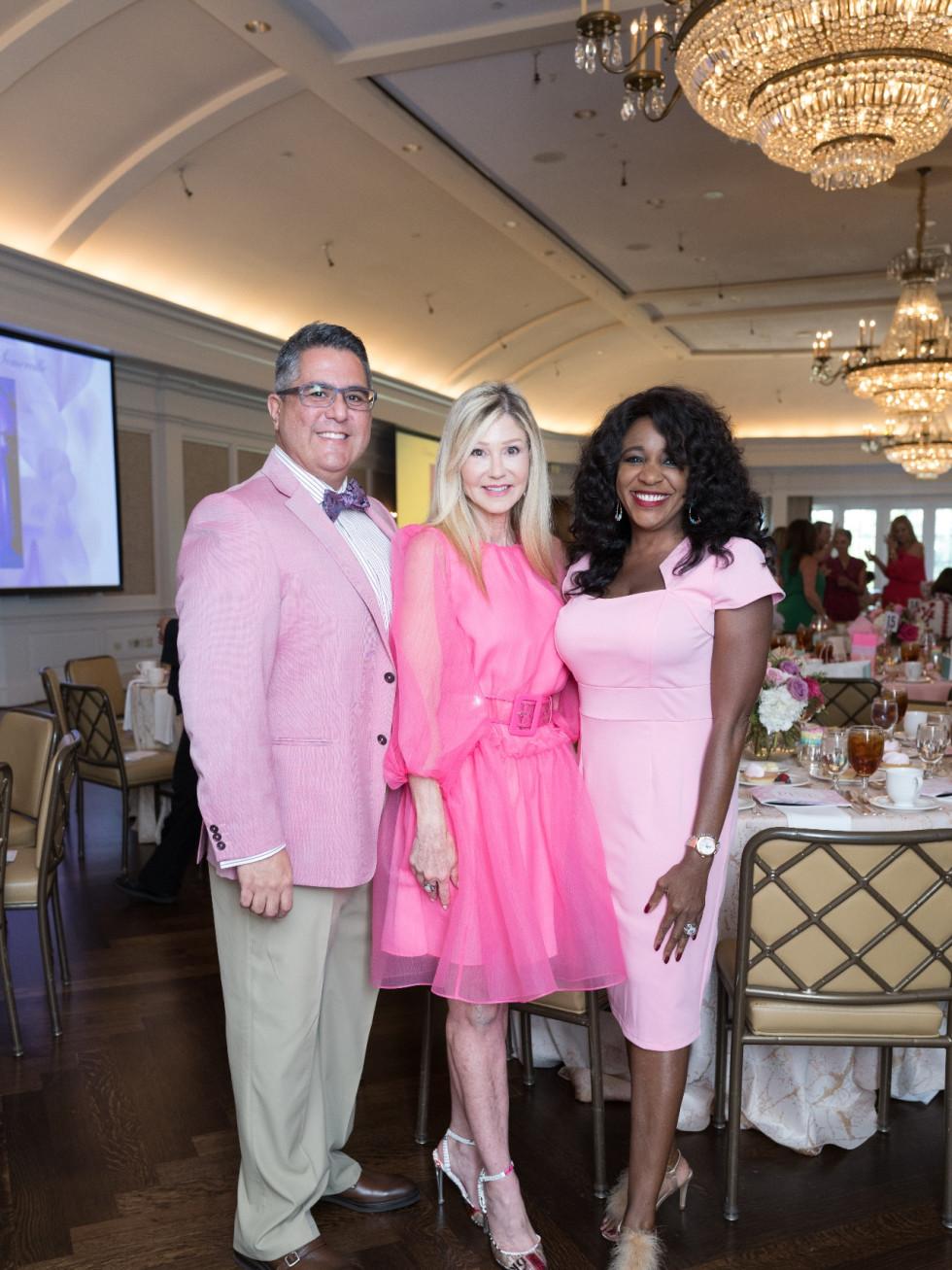 Tickled Pink Luncheon 2021 Roland Maldonado, Patti Murphy, Jacquie Baly