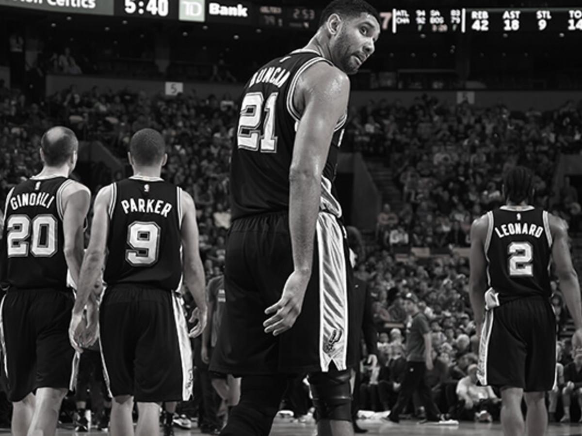134fb23f1b5 San Antonio Spurs retire basketball legend Tim Duncan s jersey ...