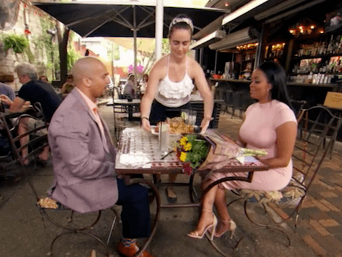 49e7e7d93d32 Married to Medicine Houston episode 5 Ricky and Ashandra at Boheme