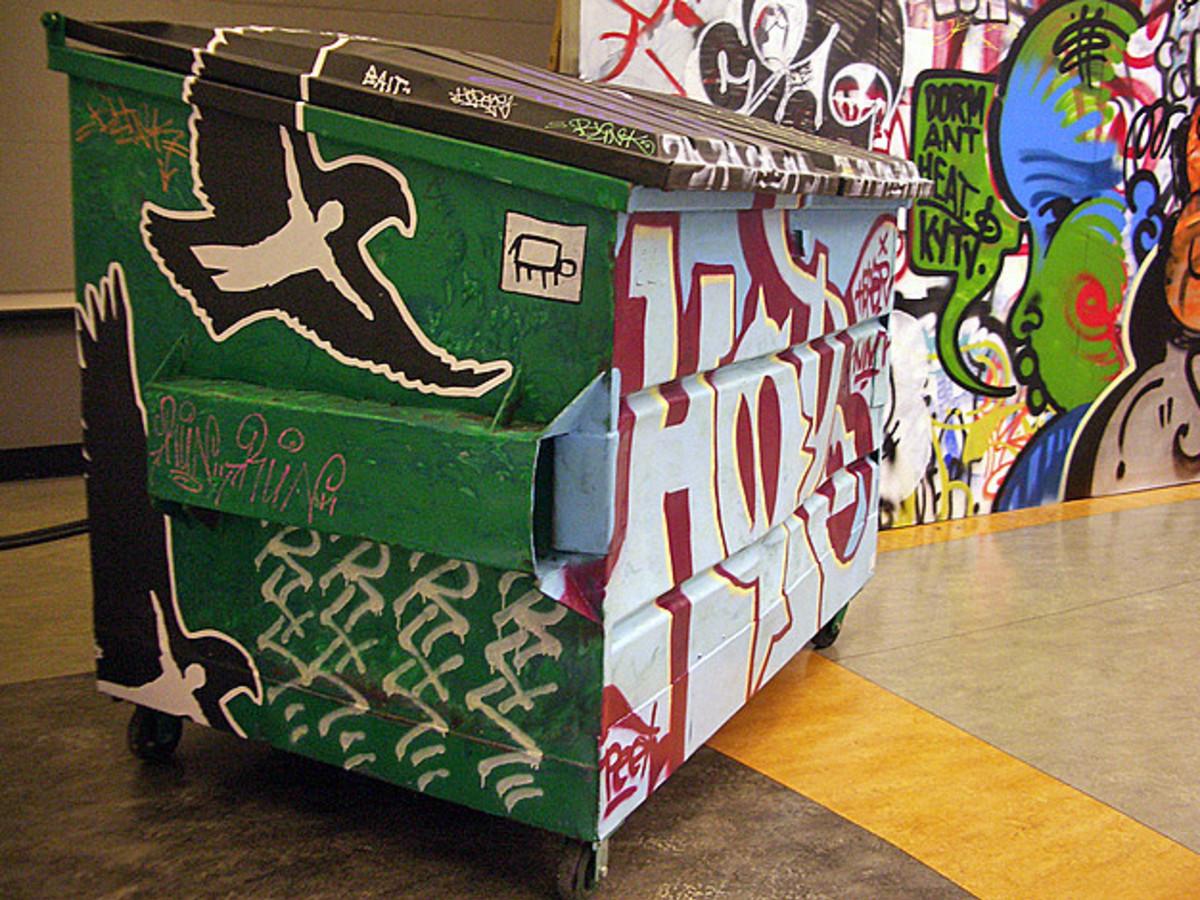 Dallas artists dress up dumpsters for offbeat compeion ... on eater dallas, art institute of dallas, nick and dallas, trammell crow park dallas, culture in dallas, dirk nowitzki house in dallas, houston dallas,
