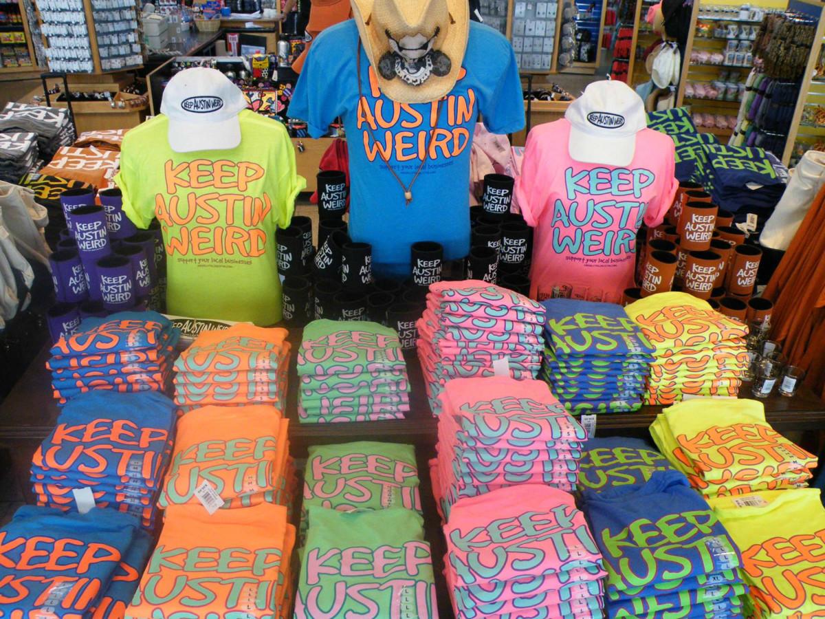 a1d4e36ee2fcf Keep Austin Weird shirt Stars of Austin store Austin-Bergstrom  International Airport ABIA