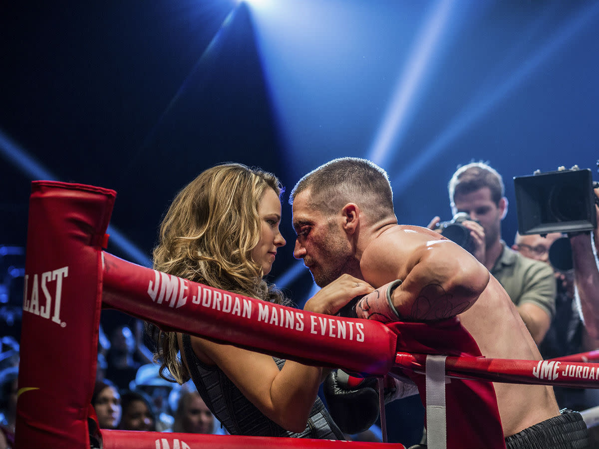 Rachel McAdams and Jake Gyllenhaal in Southpaw