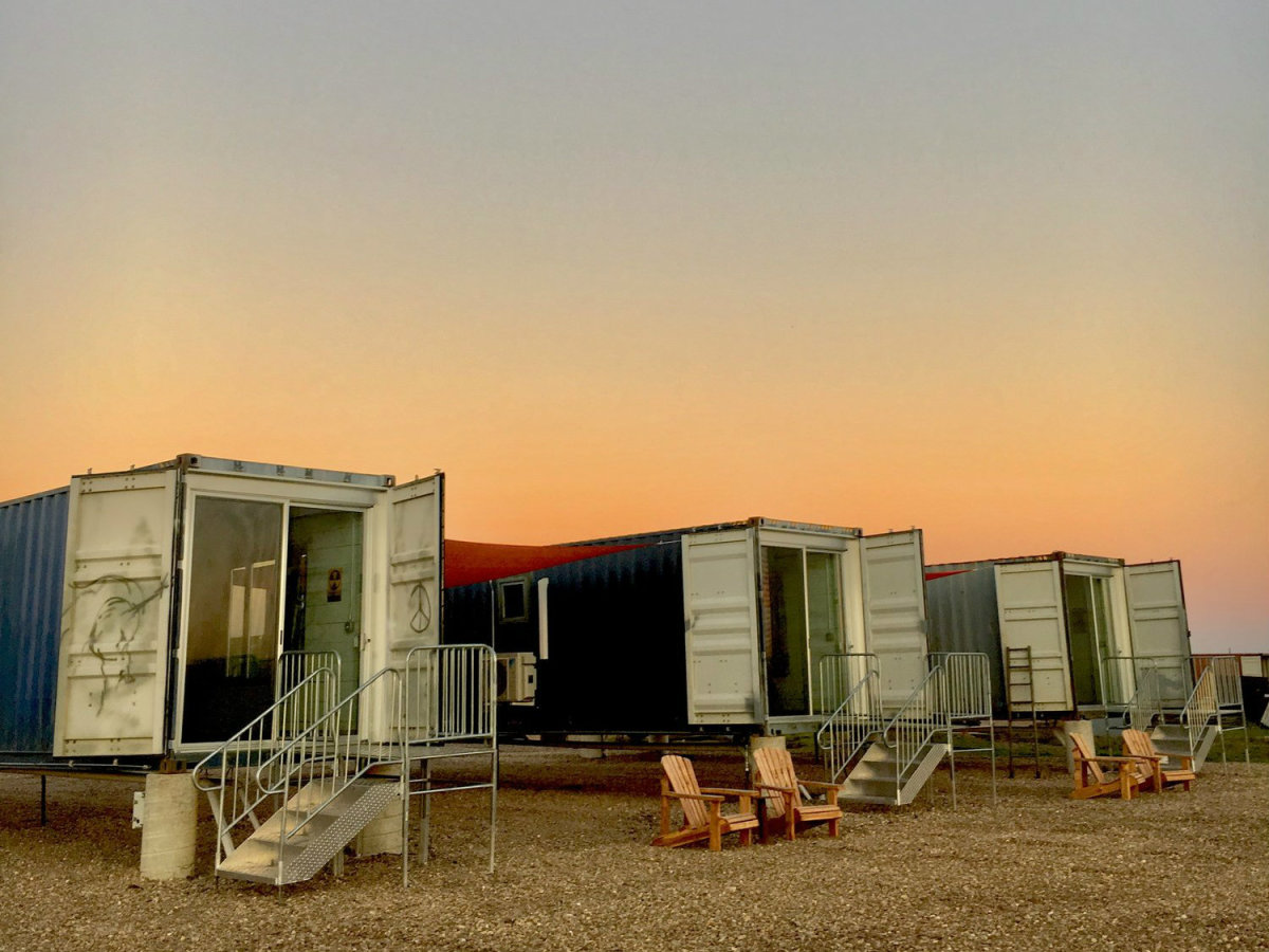 Texas' first-ever shipping container hotel takes shape in ... on