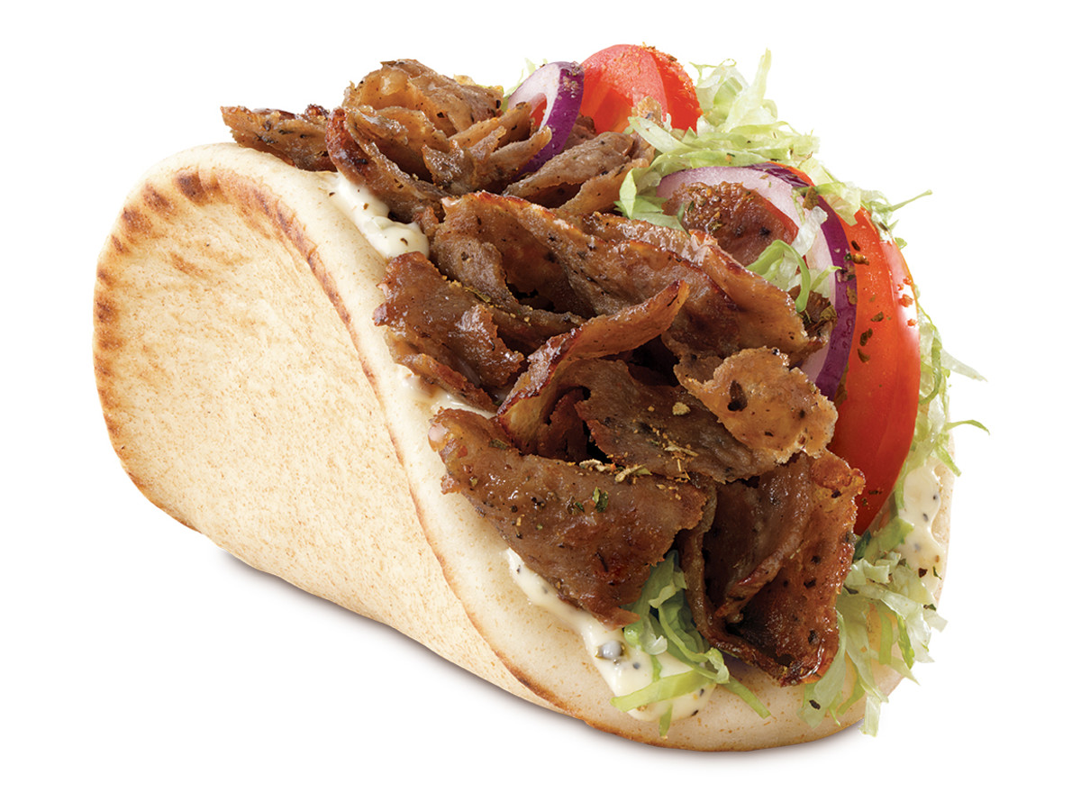 It's all Greek at Arby's with the meaty, juicy traditional gyro
