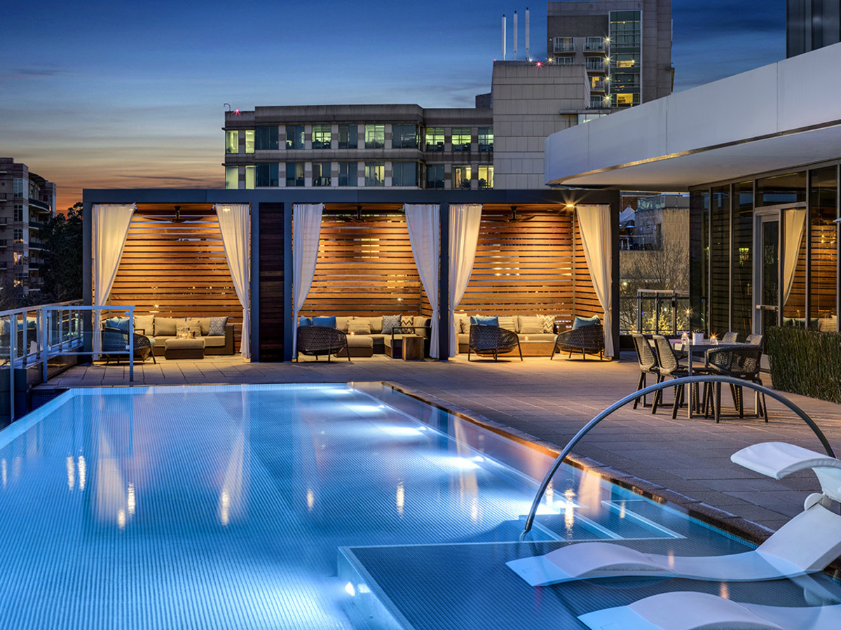 Luxe pool lounge and restaurant make a splash at Woodlands ...
