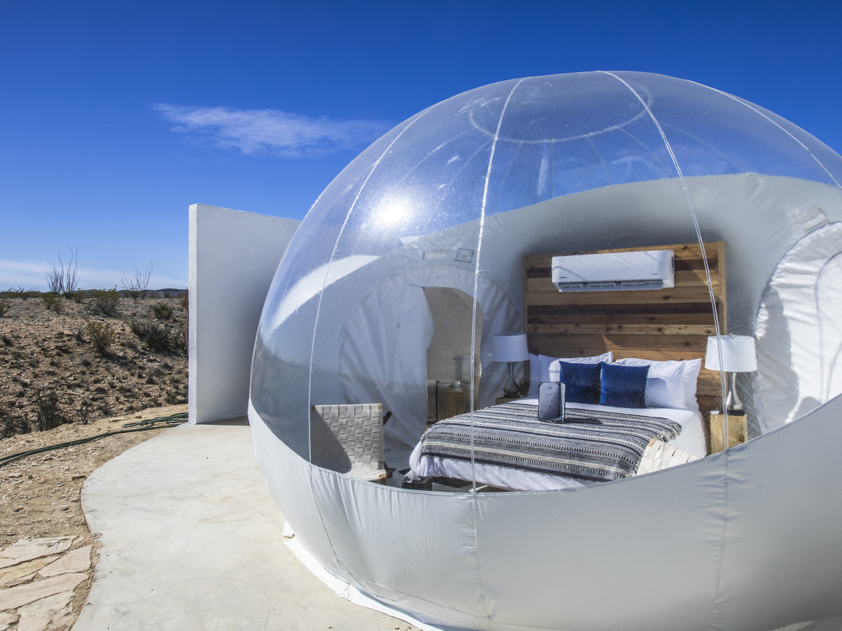 West Texas ghost town bubbles up with luxurious glamping