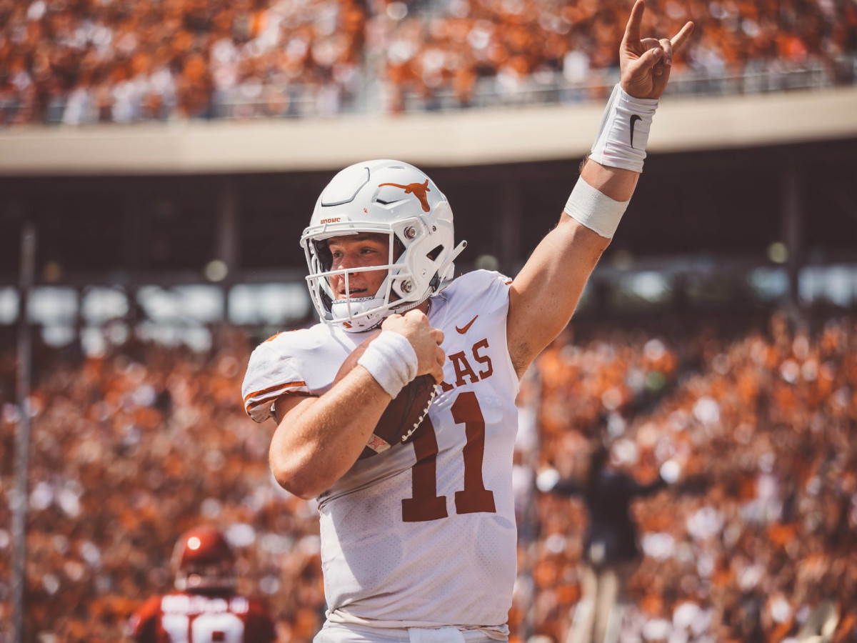 the latest b07cd 555f1 Moving the goalposts: Texas football takes on overmatched ...