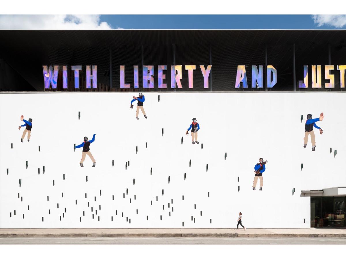 """Little Man, little man"" by Deborah Roberts at The Contemporary Austin Jones Center"