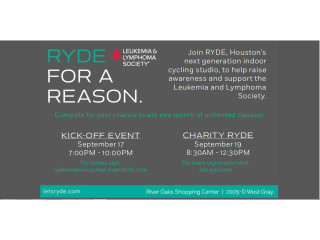RYDE Inaugural Ryde For A Reason